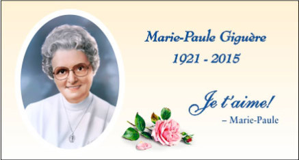 Funérailles de Marie-Paule
